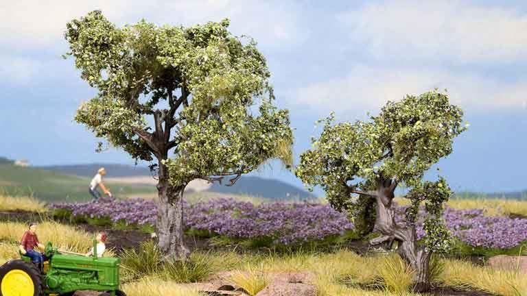 NOCH 21995 — Оливковые деревья ~60 и 90мм (2 шт.), 1:72—1:100
